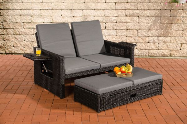 Sofa Ancona Eisengrau 5mm, schwarz