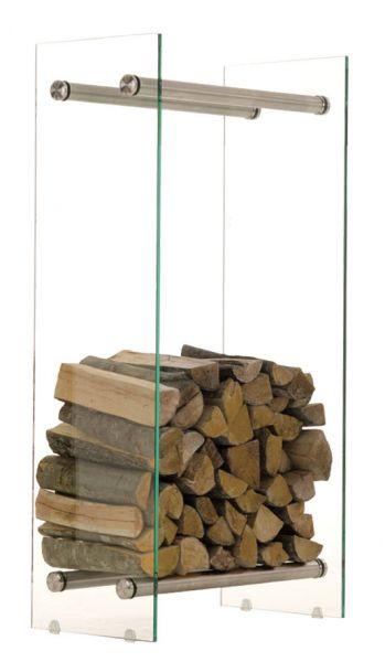 Kaminholzständer Dacio 35x40x100, klarglas