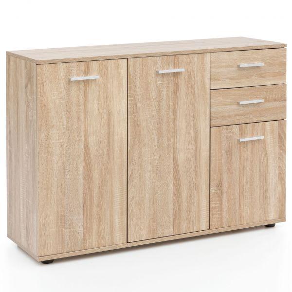 Kommode WL5.288 mit Türen & Schubladen 107x79x35 cm Schrank Holz Sonoma