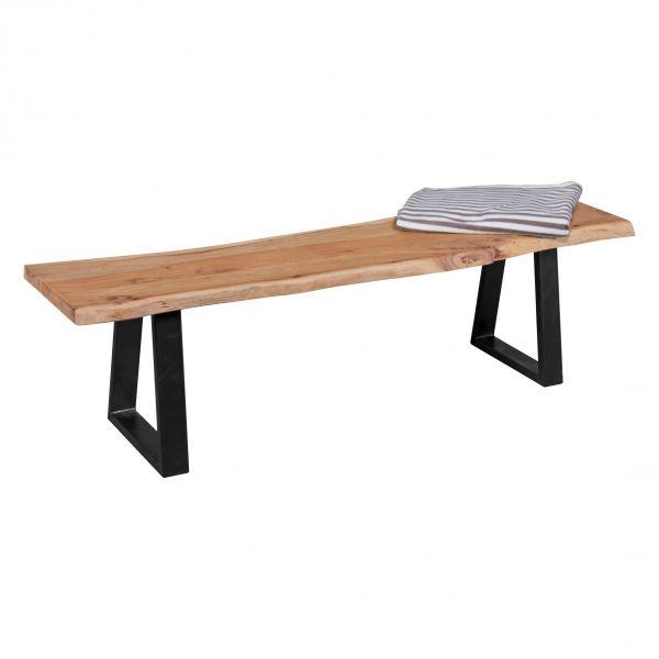 Baumstamm Sitzbank, Küchenbank, Massivholz Akazie, 160cm