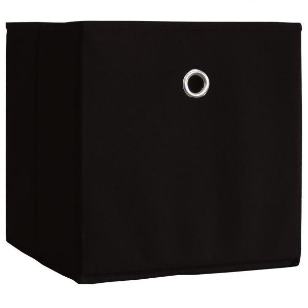 10er-Set Faltbox Klappbox Boxas - ohne Deckel - Schwarz