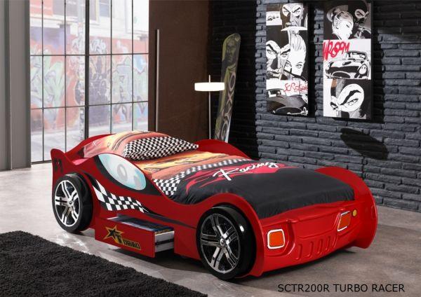 Kinderbett Autobett Turbo Racing Rot