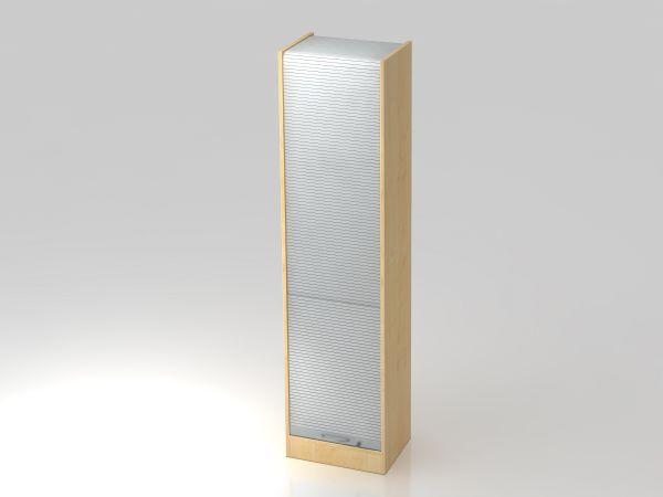 Rollladenschrank 50cm, 5OH BM Ahorn / Silber