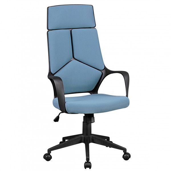 TECHLINE Schreibtischstuhl Bürostuhl, Stoffbezug Blau