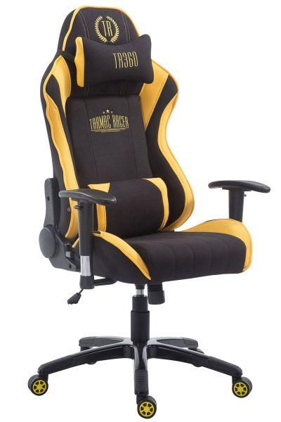 Racing Bürostuhl Shift Stoff, schwarz / gelb