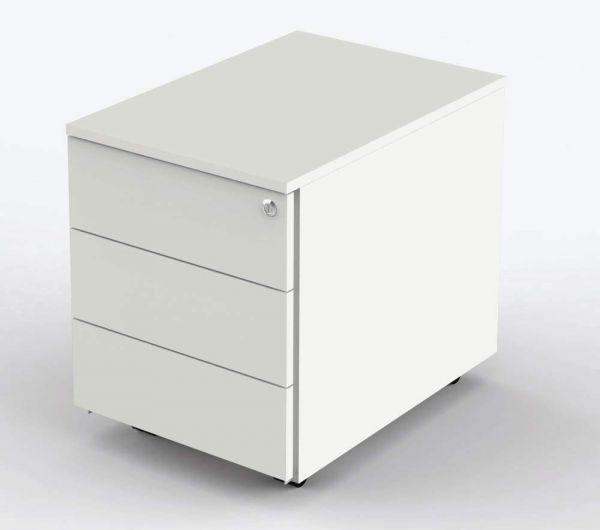 Rollcontainer Atlantis mit 3 Schubladen, Weiß