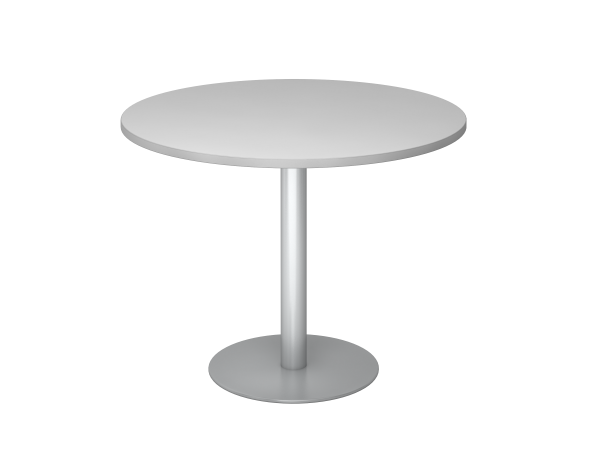 Besprechungstisch STF10 100cm Ø rund Grau Gestellfarbe: Silber