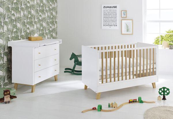 Kinderzimmer Sparset 'Pan' breit, weiß / klar