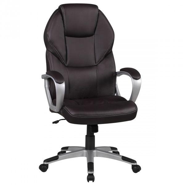 DETROIT Bürostuhl Schreibtischstuhl Drehstuhl, Kunstleder Braun