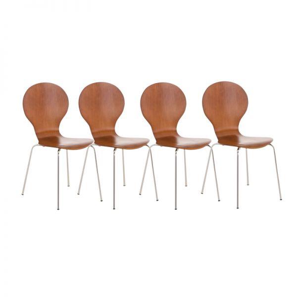 4er Set Besucherstuhl Diego, braun   Büro > Bürostühle und Sessel  > Besucherstühle   Braun   CLP