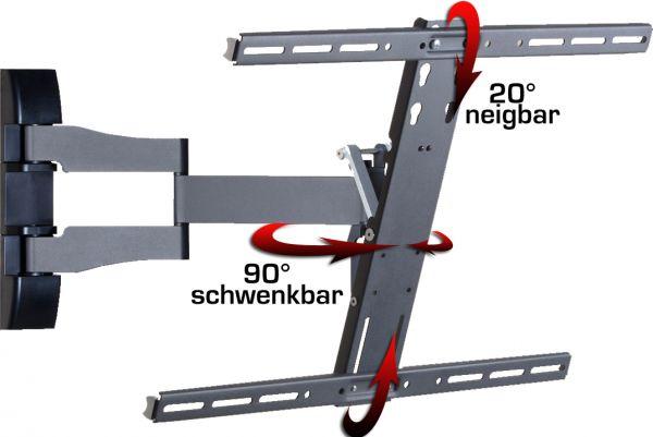 """Wandhalterung """"WS 100"""" SLIM - Schwarz"""