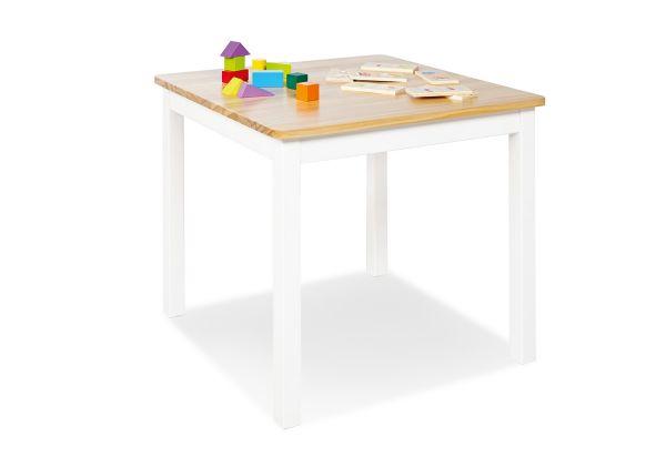 Kindertisch 'Fenna', weiß / klar