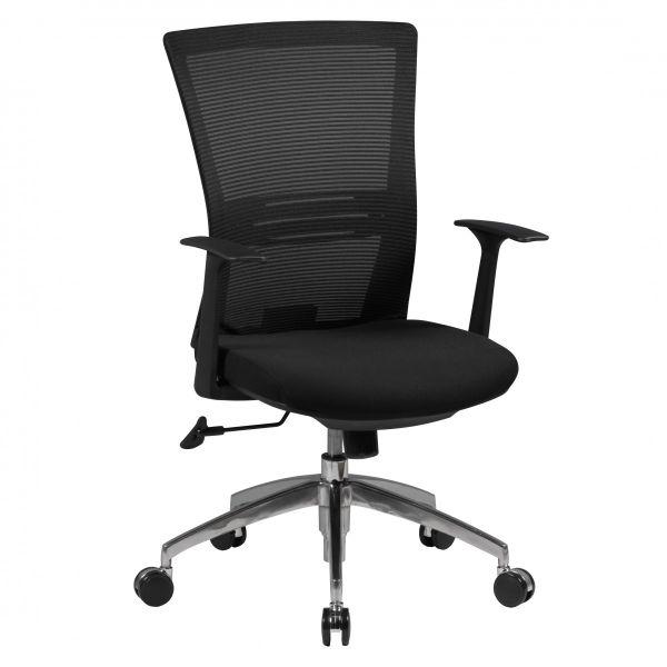BASELINE Bürostuhl, Schreibtischstuhl, Schwarz