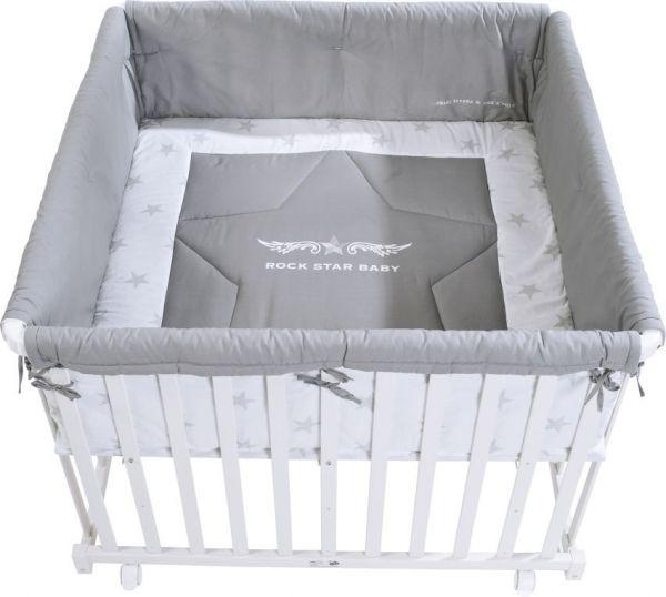 Laufgitter 'Rock Star Baby 2' 100x100cm lackiert weiß