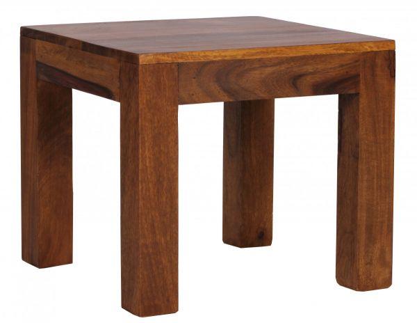 MUMBAI Couchtisch Massiv-Holz Sheesham, Landhaus-Stil, dunkelbraun