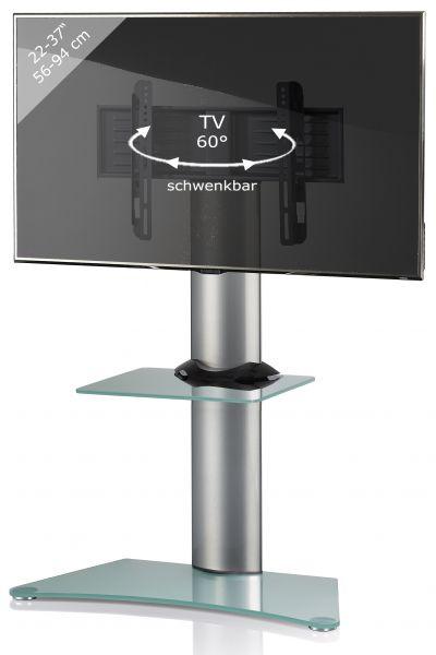 TV-Standfuß Findal mit Zwischenboden - Silber | Wohnzimmer > TV-HiFi-Möbel > Ständer & Standfüße | Silber | VCM-Möbel