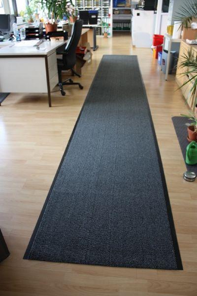 Schmutzfangmatte, 90 x 600 cm, schwarz/weiß meliert