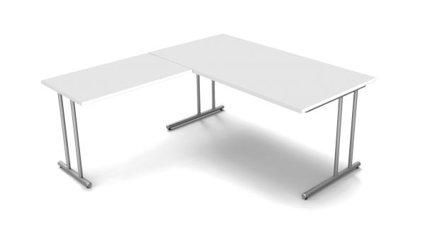 Kerkmann Schreibtisch Start Up, C-Fuß Gestell, Winkelarbeitsplatz