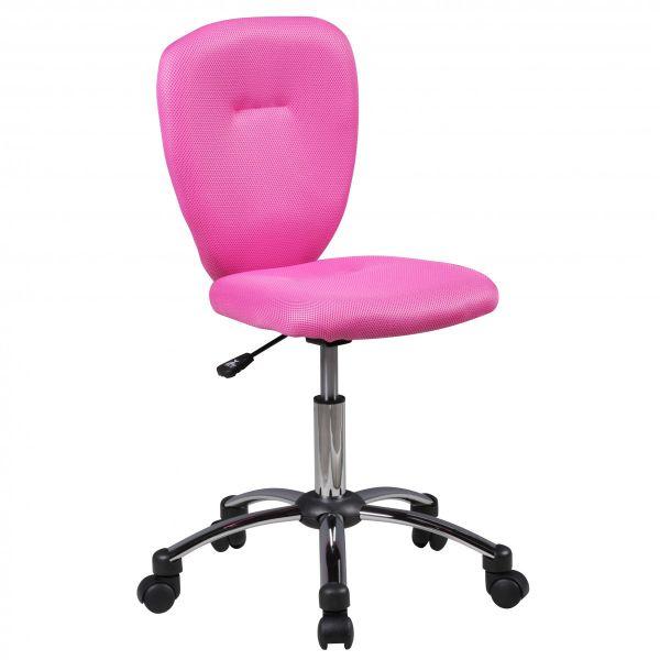 ANNA Kinderschreibtischstuhl Jugendstuhl, für Kinder ab 6 Jahren, Pink