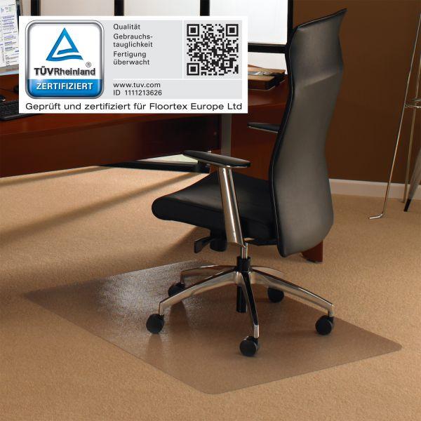 Bodenschutzmatte, 120 x 120 cm, rechteckig, transparent