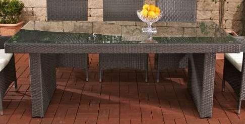 Tisch Avignon BIG 200 cm, grau