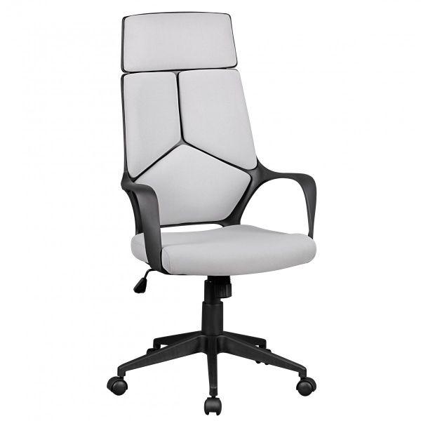 TECHLINE Schreibtischstuhl Bürostuhl, Stoffbezug Hellgrau