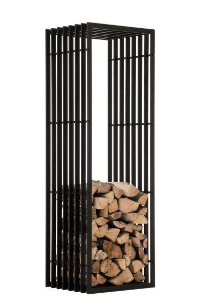 Kaminholzständer Irving 40x50x150, schwarz-matt