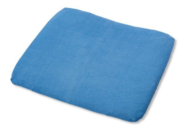 Bezug für Wickelauflagen, Frottee, blau