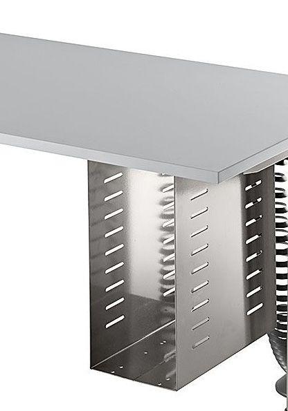 PC-Halter für höhenverstellbare Tisch Silber
