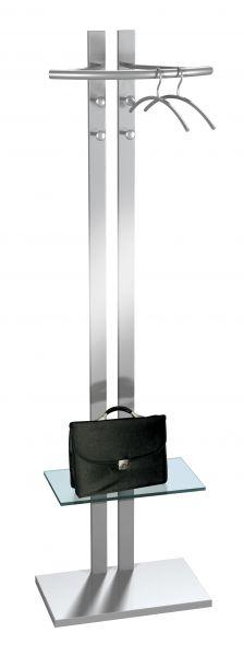 Standgarderobe G8 aus Stahl mit Mantelhaken