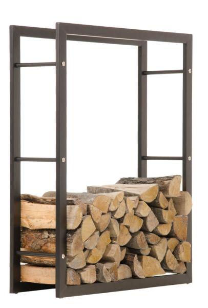 Kaminholzständer Keri 25x80x100, schwarz-matt