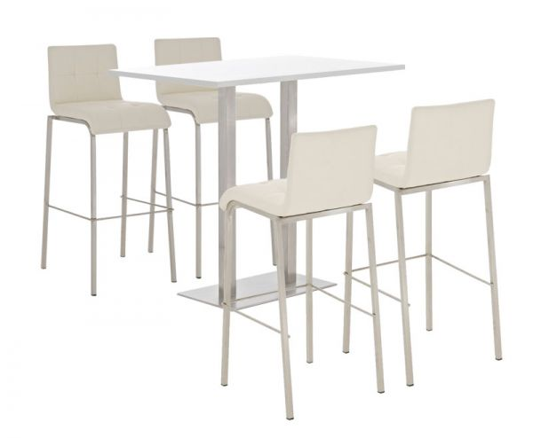 Bar Set Velosa, weiss glanz , creme
