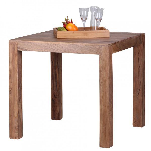 Esstisch, Esszimmer-Tisch, Massivholz, Akazie 80 cm