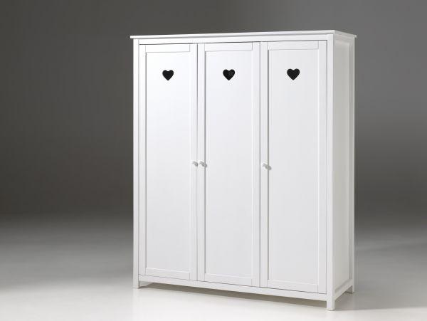 Kleiderschrank 3-trg. Amori, Weiß