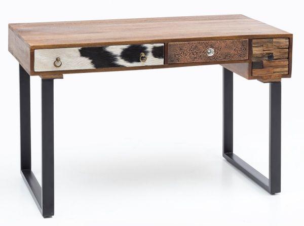 schreibtisch patna 120 x 60 x 79 cm massiv holz laptoptisch mango natur landhaus stil. Black Bedroom Furniture Sets. Home Design Ideas