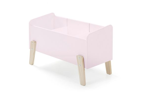 Kiddy Spielkiste mit 3 Fächern rosa