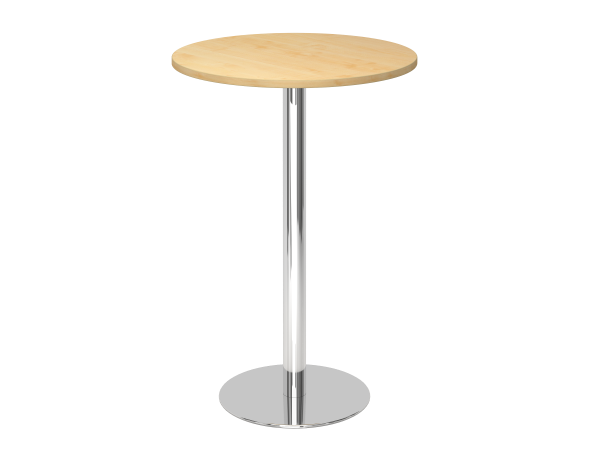 Stehtisch STF08 rund, 80 cm, Ahorn / Chrom