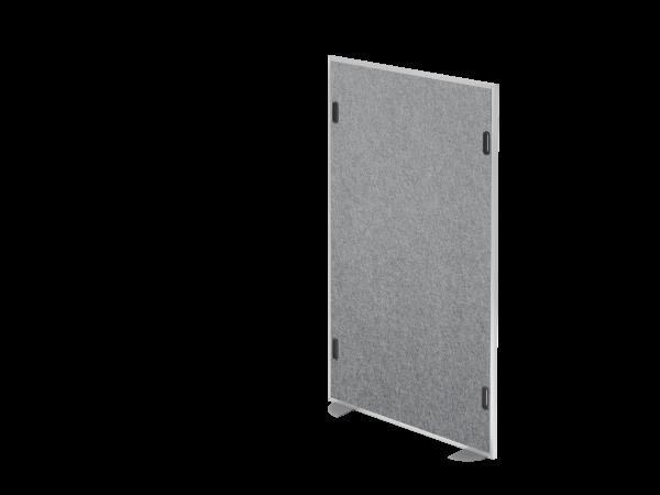 Akustikstellwand 166x98cm, Grau-meliert