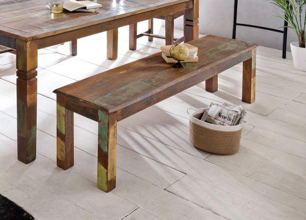 Esszimmerbank KALKUTTA 120 x 45 x 38 cm Mango Shabby Chic Massiv-Holz   Design Landhaus Sitzbank Boo