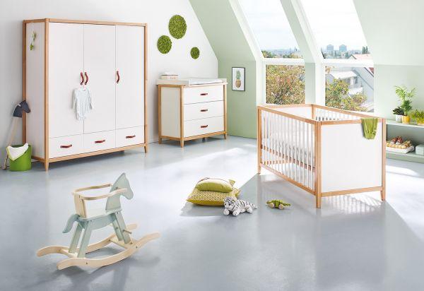 Kinderzimmer 'Calimero' breit groß, weiß / klar
