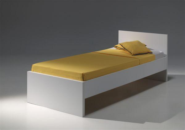 Einzelbett 90x200 Milan, Weiß