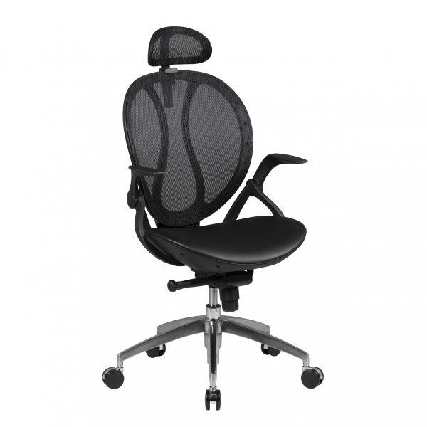 SHAPE 2 Bürostuhl, Schreibtischstuhl mit Kopfstütze, Kunstleder Schwarz