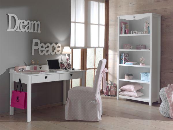 Set Amori best. aus: Regal und Schreibtisch, Weiß