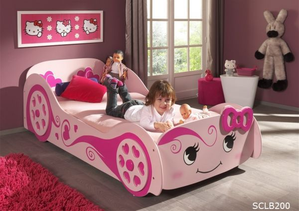 Kinderbett Autobett Pretty Girl rosa (Love Car Bed)