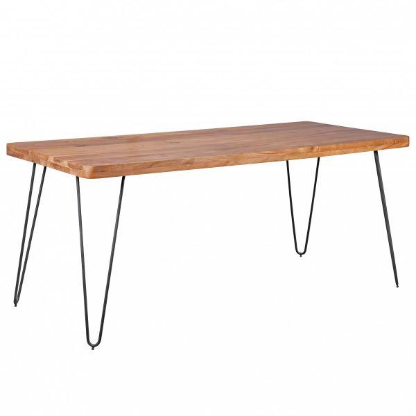 Esstisch, Küchentisch, Massivholz, Akazie, 180 cm