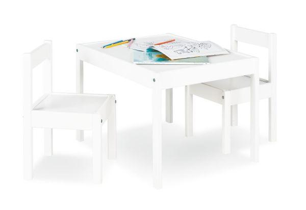 Kindersitzgruppe 'Sina', 3-tlg., natur / weiß