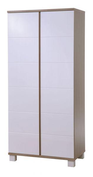 Kleiderschrank 'Genova' 2-türig Eiche/ weiß