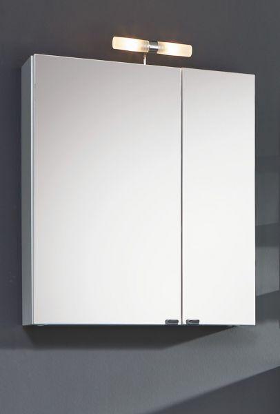 Spiegelschrank, weiss, multi-use, 2 Türen mit Softclose