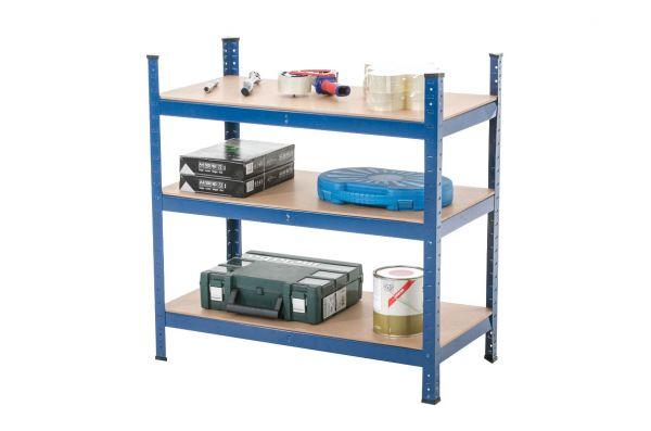 Steckregal 90x45x90, blau | Baumarkt > Werkbank | CLP