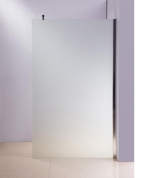 Duschabtrennung 100x200x150cm rund, milchglas